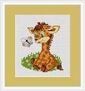 Luca-S Baby Giraffe Mini Kit Cross Stitch