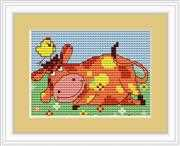 Luca-S Cow Mini Kit Cross Stitch