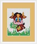 Baby Cow Mini Kit - Luca-S Cross Stitch Kit