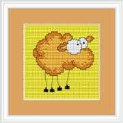 Luca-S Comic Sheep Mini Kit Cross Stitch