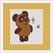 Luca-S Bear and Bee Mini Kit Cross Stitch