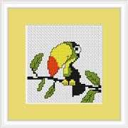 Luca-S Toucan Mini Kit Cross Stitch