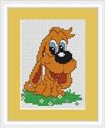 Luca-S Hound Dog Mini Kit Cross Stitch