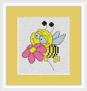 Luca-S Bee Mini Kit Cross Stitch
