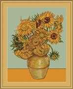 Luca-S Sunflowers Cross Stitch Kit