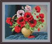 Luca-S Vase of Poppies Cross Stitch Kit