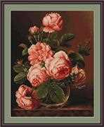 Luca-S Vase of Roses Cross Stitch Kit
