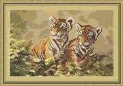 Tiger Cubs - Luca-S Cross Stitch Kit