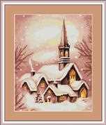 Snowy Church - Luca-S Cross Stitch Kit
