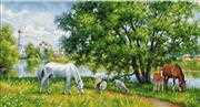 Luca-S Pastoral Scene Cross Stitch Kit