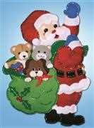 Design Works Crafts Santa Toys Wall Hanging Christmas Craft Kit