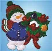 Design Works Crafts Snowman Wreath Wall Hanging Christmas Craft Kit
