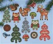 Design Works Crafts Woodland Ornaments Cross Stitch Kit