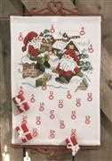 Elves on Roof Advent - Permin Cross Stitch Kit