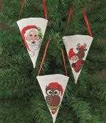 Santa Animals Tree Pockets - Permin Cross Stitch Kit