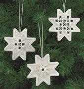 White Star Tree Decorations - Permin Embroidery Kit