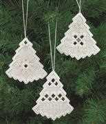 White Tree Christmas Decorations - Permin Embroidery Kit