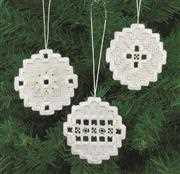 White Bauble Tree Decorations - Permin Embroidery Kit