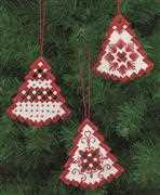 Red Tree Christmas Decorations - Permin Embroidery Kit