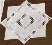 Hardanger Diamonds Mat - Permin Embroidery Kit