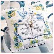 Princesse Wedding Pillow Cross Stitch Kit