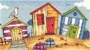 Beach Huts - Evenweave - Heritage Cross Stitch Kit