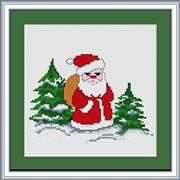 Luca-S Santa Claus Christmas Cross Stitch Kit