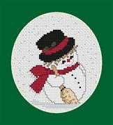 Luca-S Snowman Cross Stitch Kit
