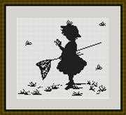 Girl with Butterflies - Luca-S Cross Stitch Kit