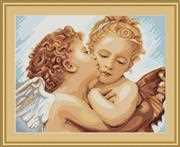 First Kiss - Detailed - Luca-S Cross Stitch Kit