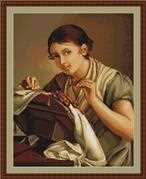 Lady Sewing - Luca-S Cross Stitch Kit