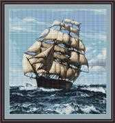 Luca-S Tall Ship II Cross Stitch Kit