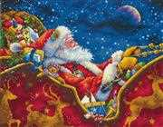Dimensions Santa's Midnight Ride Christmas Cross Stitch Kit