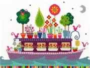 Funky Houseboat - Bothy Threads Cross Stitch Kit