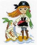 RIOLIS Treasure Island Cross Stitch Kit
