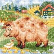 RIOLIS The Farm - Piglet Cross Stitch Kit