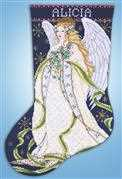 Design Works Crafts Holly Angel Stocking Cross Stitch Kit