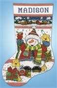 Snowman Fun Stocking - Design Works Crafts Cross Stitch Kit
