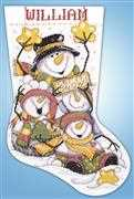 Let it Snow Stocking - Design Works Crafts Cross Stitch Kit