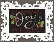 Design Works Crafts Joy Chalkboard Christmas Cross Stitch Kit