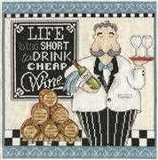 Design Works Crafts Cheap Wine Cross Stitch Kit