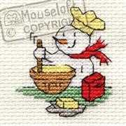 Christmas Baking - Mouseloft Cross Stitch Card Design