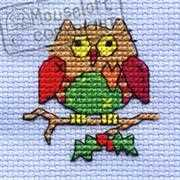 Christmas Patchwork Owl - Mouseloft Cross Stitch Kit