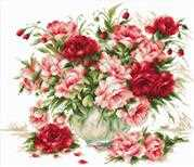 Luca-S Peonies - Evenweave Cross Stitch Kit