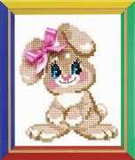 RIOLIS Baby Rabbit Cross Stitch Kit