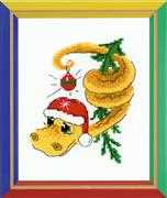RIOLIS Christmas Serpent Cross Stitch Kit