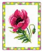 RIOLIS Pink Poppy Cross Stitch Kit