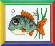 RIOLIS Smiling Fish Cross Stitch Kit