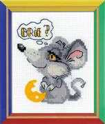 RIOLIS Dreamy Mouse Cross Stitch Kit