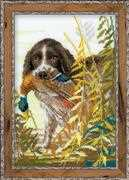 RIOLIS Hunting Spaniel Cross Stitch Kit